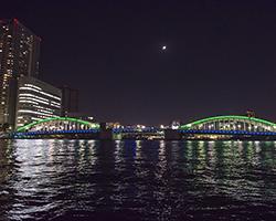 屋形船からの景色 東京の夜景